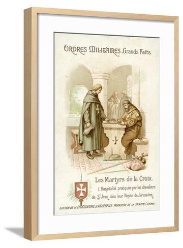 Hospitality Provided by the Knights of St John in Jerusalem--Framed Art Print