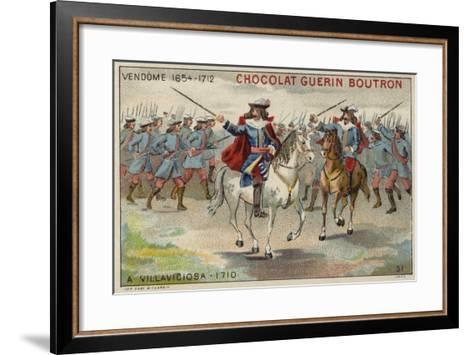 The Duke of Vendome at the Battle of Villaviciosa--Framed Art Print
