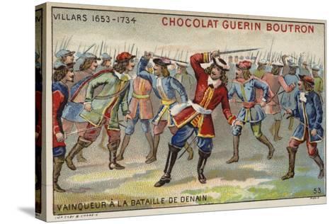 Marshal Villars Winning the Battle of Denain--Stretched Canvas Print
