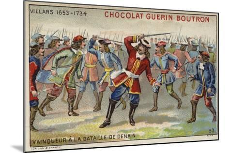 Marshal Villars Winning the Battle of Denain--Mounted Giclee Print