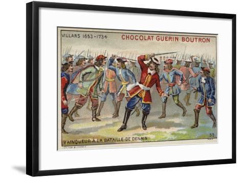 Marshal Villars Winning the Battle of Denain--Framed Art Print