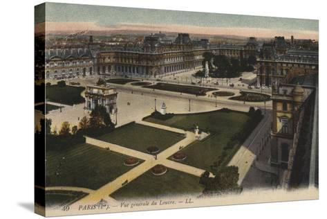 Paris, Vue Generale Du Louvre--Stretched Canvas Print