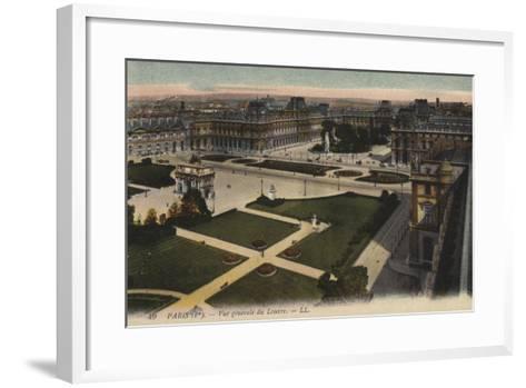 Paris, Vue Generale Du Louvre--Framed Art Print