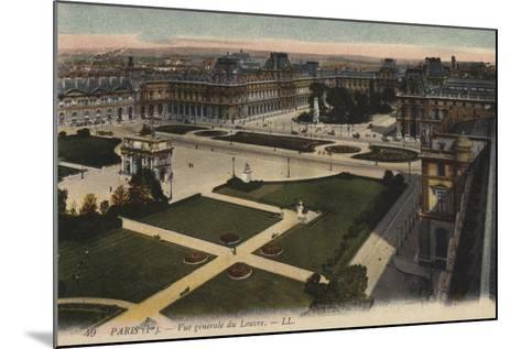 Paris, Vue Generale Du Louvre--Mounted Giclee Print