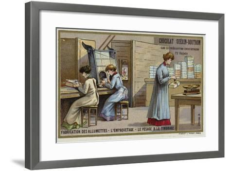 Manufacturing Matches. Packing, Weighing and Stamping--Framed Art Print