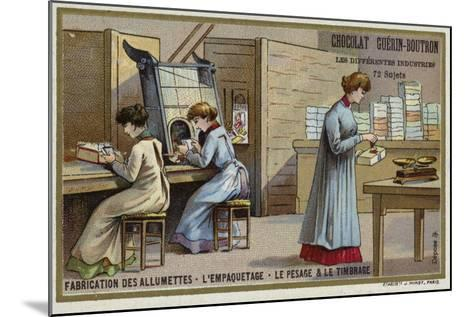 Manufacturing Matches. Packing, Weighing and Stamping--Mounted Giclee Print