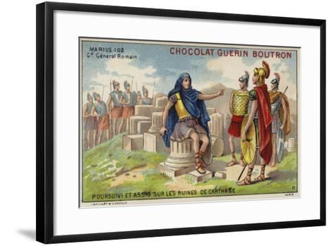 Gaius Marius in Exile Among the Ruins of Carthage--Framed Art Print