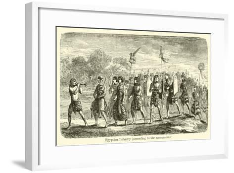 Egyptian Infantry, According to the Monuments--Framed Art Print