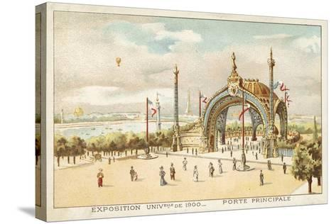 Main Gate, Exposition Universelle 1900, Paris--Stretched Canvas Print