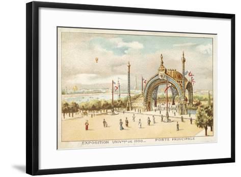 Main Gate, Exposition Universelle 1900, Paris--Framed Art Print