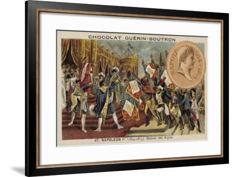 Napoleon and the Distribution of the Eagle Standards, 1804--Framed Art Print