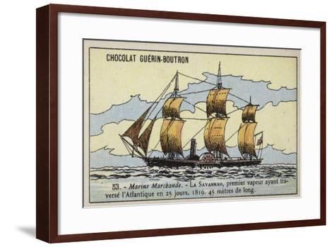 American Paddle Steamer Savannah--Framed Art Print
