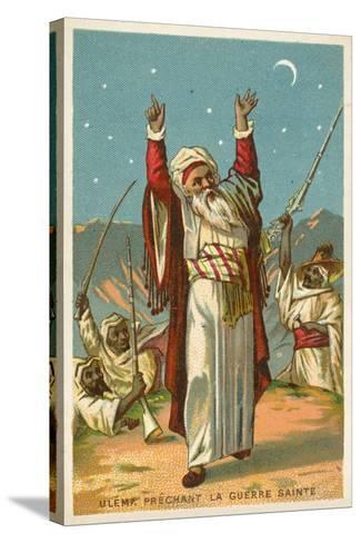 An Ulama Preaching Jihad--Stretched Canvas Print