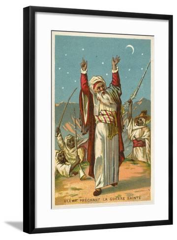 An Ulama Preaching Jihad--Framed Art Print