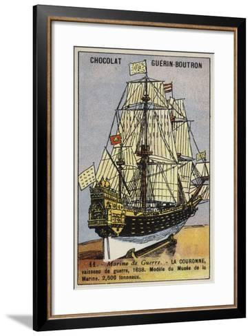French Warship Couronne, 1638--Framed Art Print