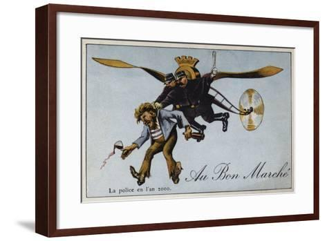 The Police in the Year 2000--Framed Art Print
