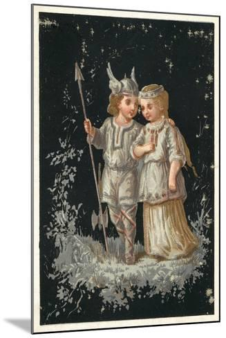 Girl and Boy in Norse or Germanic Costume--Mounted Giclee Print