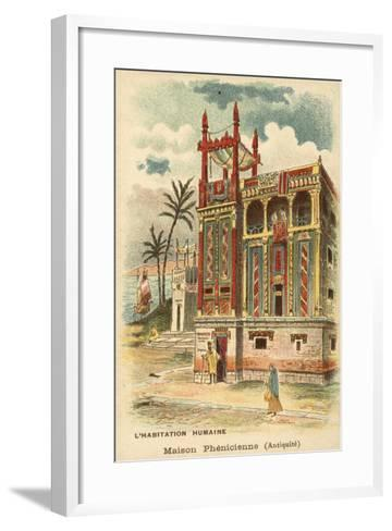 Ancient Phoenician House--Framed Art Print