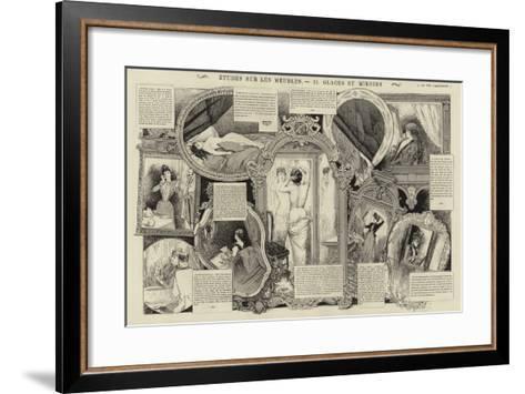 Etudes Sur Les Meubles, Glaces Et Miroirs--Framed Art Print
