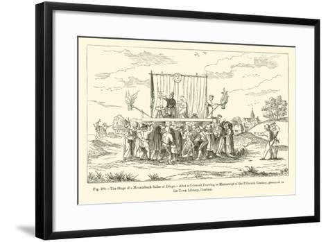 The Stage of a Mountebank Seller of Drugs--Framed Art Print