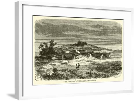 The Merchant's Tables at Lochmariaker--Framed Art Print