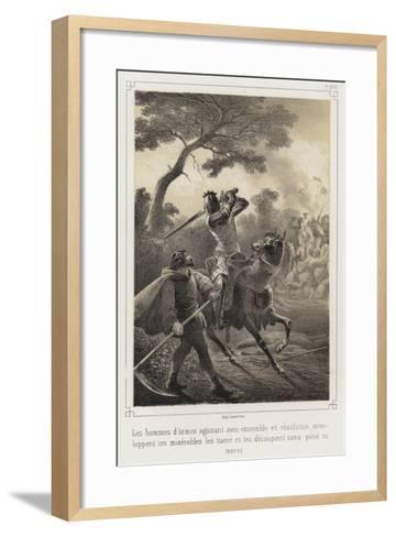 Mounted Knights Killing Peasants--Framed Art Print