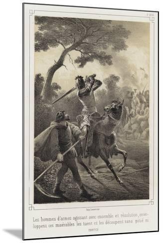 Mounted Knights Killing Peasants--Mounted Giclee Print