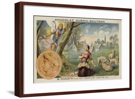 Joan of Arc Hearing Voices--Framed Art Print