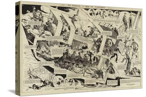 En Voyage, Sur Le Paquebot--Stretched Canvas Print