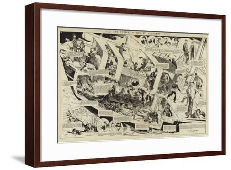 En Voyage, Sur Le Paquebot--Framed Art Print