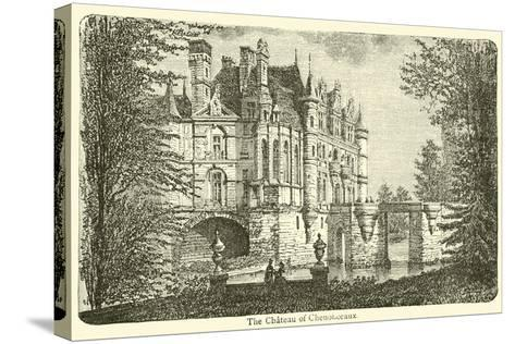 The Chateau of Chenonceaux--Stretched Canvas Print