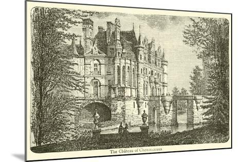 The Chateau of Chenonceaux--Mounted Giclee Print