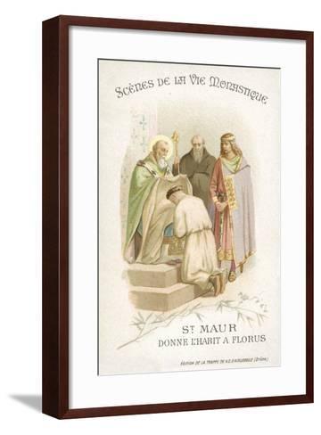 St Maurus Gives Florus His Habit--Framed Art Print