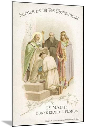 St Maurus Gives Florus His Habit--Mounted Giclee Print