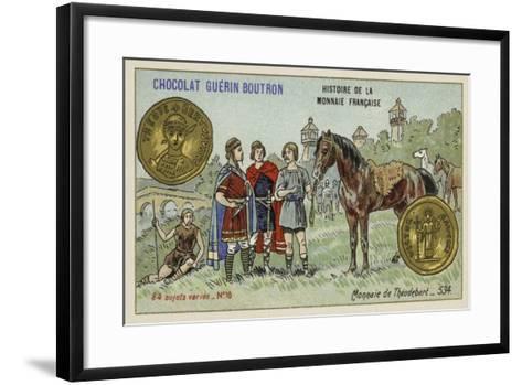 Coin of Theudebert I, 534--Framed Art Print