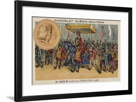 Louis XII of France Entering Milan, 1499--Framed Art Print