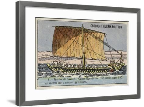 Ancient Egyptian Galley, 14th Century BC--Framed Art Print