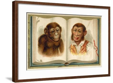 Portraits of an Ape and a Man--Framed Art Print