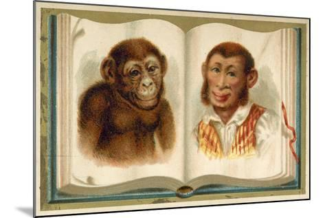 Portraits of an Ape and a Man--Mounted Giclee Print