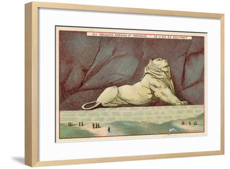 The Lion of Belfort, France--Framed Art Print