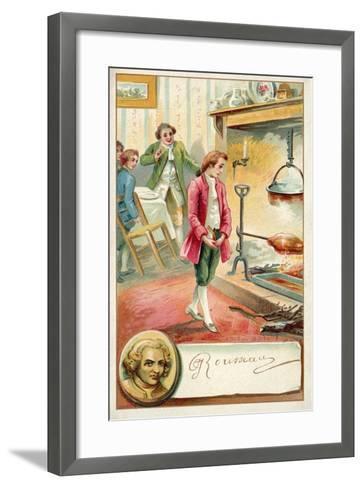 Jean Jacques Rousseau, Swiss Philosopher--Framed Art Print