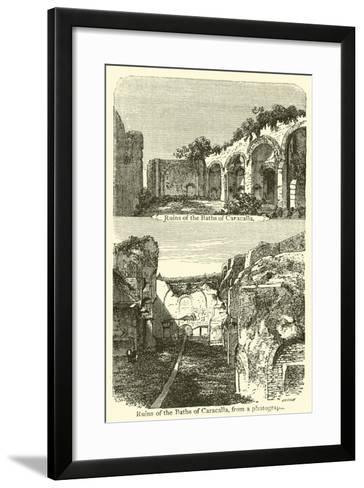 Ruins of the Baths of Caracalla--Framed Art Print
