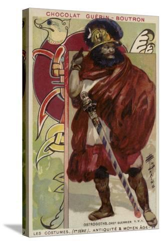Ostrogoth Warrior Chieftain--Stretched Canvas Print