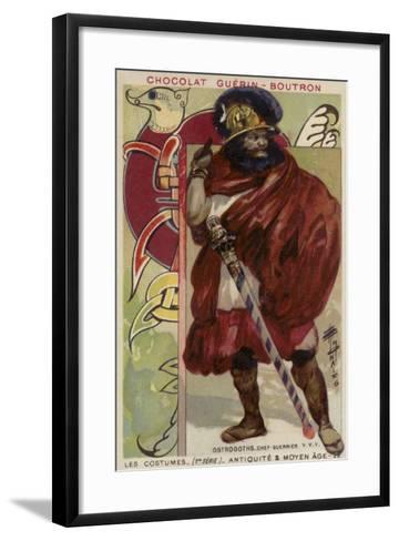 Ostrogoth Warrior Chieftain--Framed Art Print