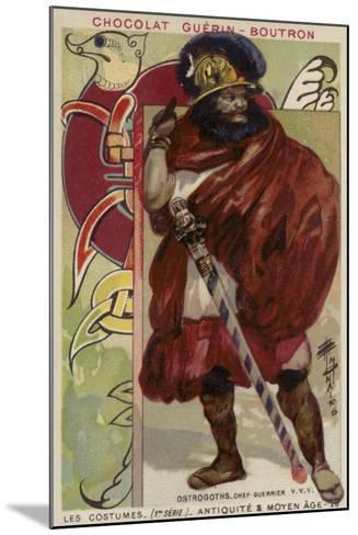 Ostrogoth Warrior Chieftain--Mounted Giclee Print