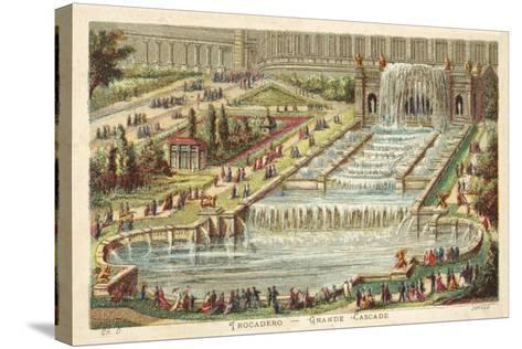 Grand Waterfall, Trocadero Palace, Paris--Stretched Canvas Print