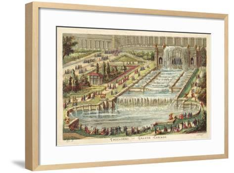 Grand Waterfall, Trocadero Palace, Paris--Framed Art Print