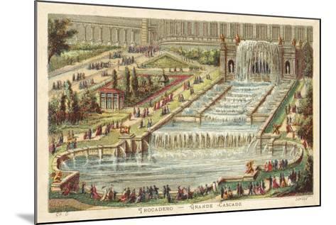 Grand Waterfall, Trocadero Palace, Paris--Mounted Giclee Print