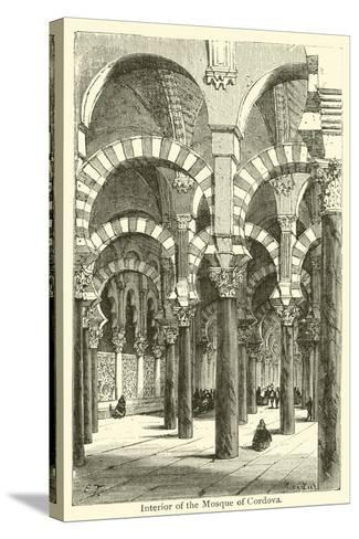 Interior of the Mosque of Cordova--Stretched Canvas Print