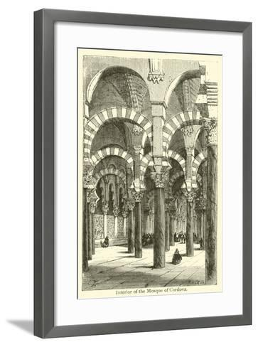 Interior of the Mosque of Cordova--Framed Art Print